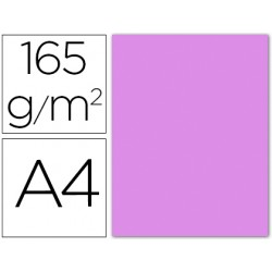 Papel color liderpapel a4 165g / m2 lila paquete de 9