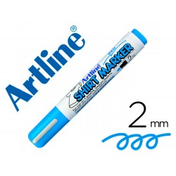 Rotulador artline camiseta ekt-2 celeste punta redonda 2 mm para uso en camisetas