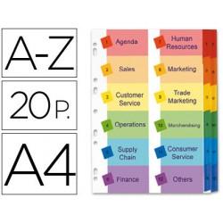 Separador alfabetico avery doble columna en cartulina juego de a-z pestañas imprimibles