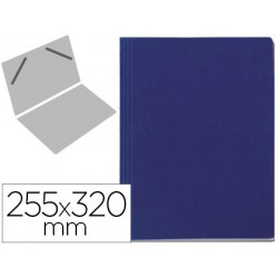 Carpeta lomo simple vacia carton forrado geltex azul 255x320mm