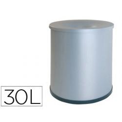 Papelera metalica ignifuga122 con aro inferior pvc diametro 27cm altura 35cm capacidad 30l