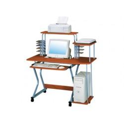 Mesa de informatica q-connect sw 06 aluminio y madera color roble