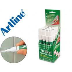 Rotulador artline marcador permanente grout pen -para juntas de azulejos -expositor de 18 unidades