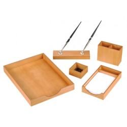 Escribania de sobremesa madera juego de 5 piezas cherry