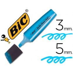Rotulador bic brite liner text fluorescente azul punta biselada 3-5 mm