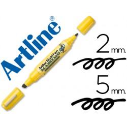Rotulador artline multipen emp-25 negro doble punta punta biselada 5 mm punta redonda 2 mm