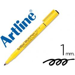 Rotulador artline multipen emp-1 negro punta redonda 1 mm tinta a base de agua