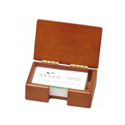 Soporte tarjeta de visita madera jw-54-1 110x41x75 mm