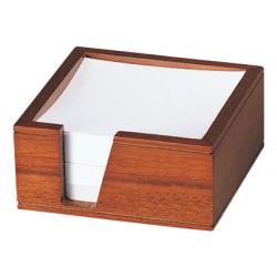 Soporte taco de papel madera jw-86 110x110x65 mm
