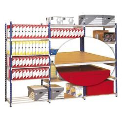 Cubre baldas de madera fast-paperflow resiste 180 kg 50 cm profundidad paquete de 5 unidades