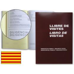 Libro miquelrius n. 98 folio 100 hojas -registro de visitasde la inspeccion de trabajo -castellano-catalan-valenciano