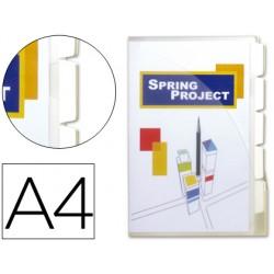 Cajetin de archivo plastico beautone din a4 con 10 fundas 5 separadores