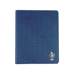 Carpeta liderpapel 4 anillas 25 mm mixtas plastico folio color celeste