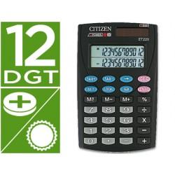 Calculadora citizen bolsillo et-220 12 digitos doble pantalla con tecla de impuestos