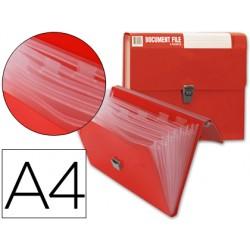 Carpeta beautone clasificador fuelle 32170 polipropileno din a4 roja sin asa superline 8 departamentos