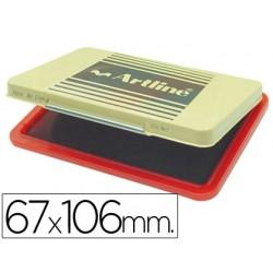Tampon artline ehp-3 rojo -base de plastico -67x106 mm