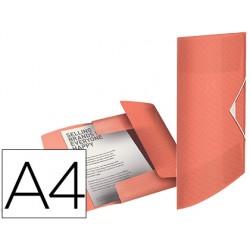 Carpeta esselte gomas tres solapas colour ice polipropileno din a4 color albaricoque