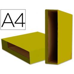 Caja archivador liderpapel color system a4 amarilla