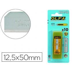 Repuesto cuter olfa ancho 12,5 mm blister de 10 unidades para cuter seguridad sk-7