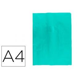 Protector cuaderno clairefontaine con etiqueta din a4 piel en pvc azul claro