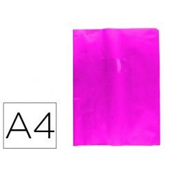 Protector cuaderno clairefontaine con etiqueta din a4 piel en pvc rosa fucsia