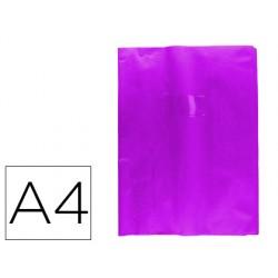 Protector cuaderno clairefontaine con etiqueta din a4 piel en pvc violeta