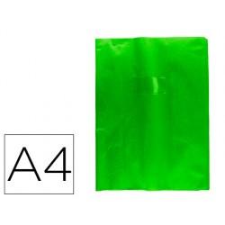 Protector cuaderno clairefontaine con etiqueta din a4 piel en pvc verde pino
