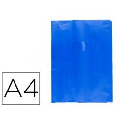 Protector cuaderno clairefontaine con etiqueta din a4 piel en pvc azul victoria