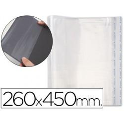 Forralibro pp ajustable adhesivo 260x450mm -blister