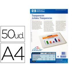 Transparencia hewlett packard laser din a-4 50 hojas