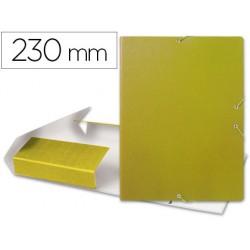 Carpeta lomo extensible vacia dos gomas carton forrado geltex amarillo