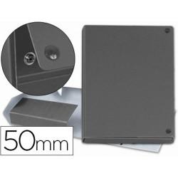 Carpeta proyectos carton forrado geltex lomo 5 cm gris