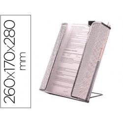 Revistero q-connect rejilla metalico plateado
