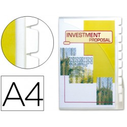 Cajetin de archivo plastico beautone din a4 con 10 fundas 10 separadores