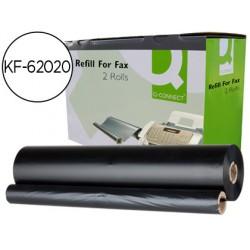 Repuesto fax magic 2 q-connect de transferencia termica 2 bobinas duracion 150 paginas