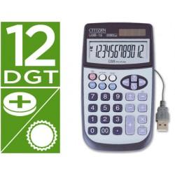 Calculadora citizen sobremesa usb-12 12 digitos con cable usb para conexion a pc