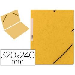 Carpeta q-connect gomas kf00454 carton simil-prespan 320x243 mm lomo de 3 cm color amarilla