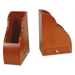 Apoyalibros madera d-043 con cajon color cognac -juego 145x80x210 mm
