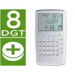 Calculadora p-929-w aluminio -calendario
