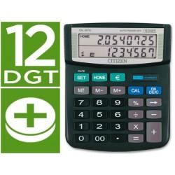 Calculadora citizen sobremesa dl-870 euro 12 digitos doble pantalla negra