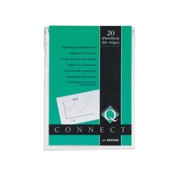 Toallitas q-connect absorbentes en paquetes de 20 unidades