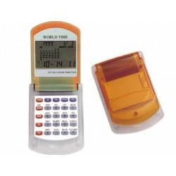 Calculadora imac p-845 n -calendario con alarma -transparente naranja -con reloj