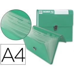 Carpeta beautone clasificador fuelle 32173 polipropileno din a4 verde sin asa superline 8 departamentos