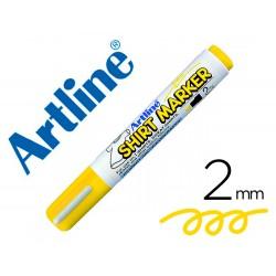 Rotulador artline camiseta ekt-2 amarillo -punta redonda 2 mm -para uso en camisetas