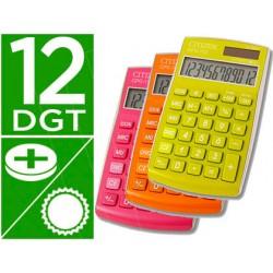 Lote de 6 calculadoras citizen de bolsillo 12 digitos cpc-112 colores surtidos