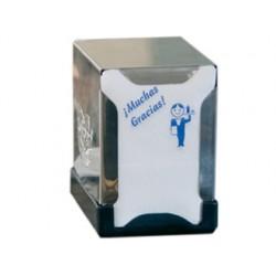 Dispensador de servilletas acero inoxidable 130x100x100 mm