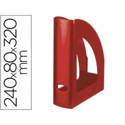 Revistero plastico q-connect rojo opaco