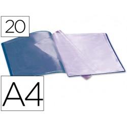 Carpeta liderpapel escaparate 37912 20 fundas polipropileno din a4 azul