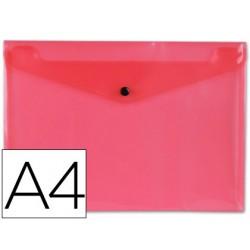 Carpeta liderpapel dossier broche polipropileno din a4 rosa transparente 50 hojas