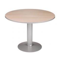 Mesa reunion redonda meeting 3006at02 estructura aluminio tablero gris 120 cm diametro